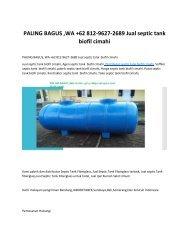 PALING BAGUS, WA +62 812-9627-2689 Jual septic tank  biofil cimahi