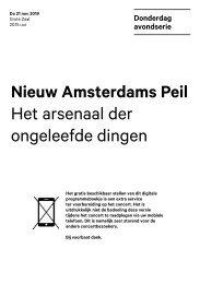 2019 11 21 Nieuw Amsterdams Peil