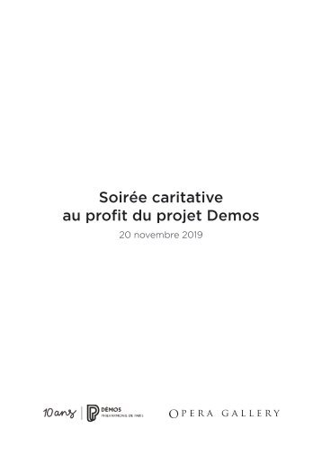 Catalogue Demos 18 novembre 2019