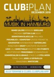 Clubplan Hamburg - Dezember 2019