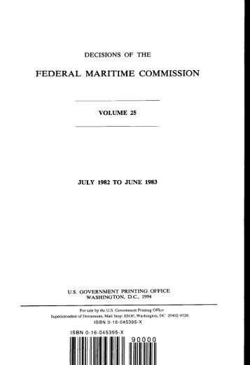 DOVPoM - Federal Maritime Commission