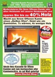 Stachel-Kamin-Feuerkassette