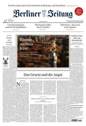 Berliner Zeitung 18.11.2019