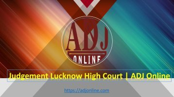 Judgement Lucknow High Court