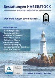 Kundenbroschuere 2019 Bestattung Haberstock