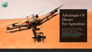 Advantages Of Drones For Agriculture