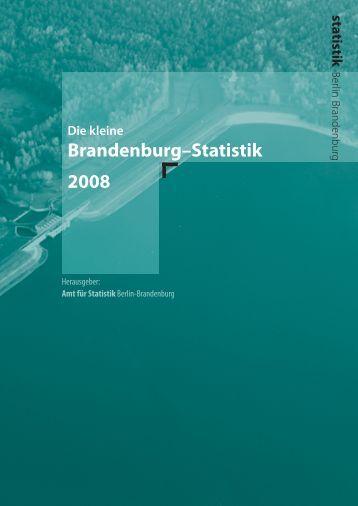 Brandenburg–Statistik 2008 - Amt für Statistik Berlin Brandenburg