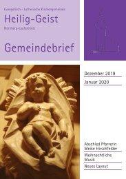 Gemeindebrief Dezember-Januar 2020