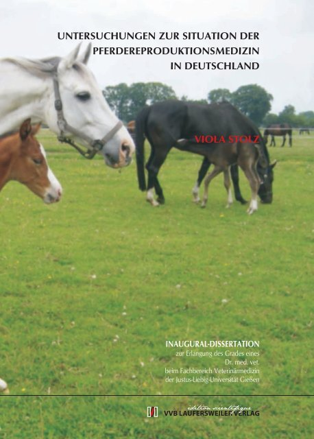 Untersuchungen zur Situation der Pferdereproduktionsmedizin in ...