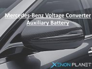 Mercedes-Benz Voltage Converter Auxiliary Battery-converted