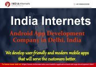 Android App Development Company in Delhi - India Internets
