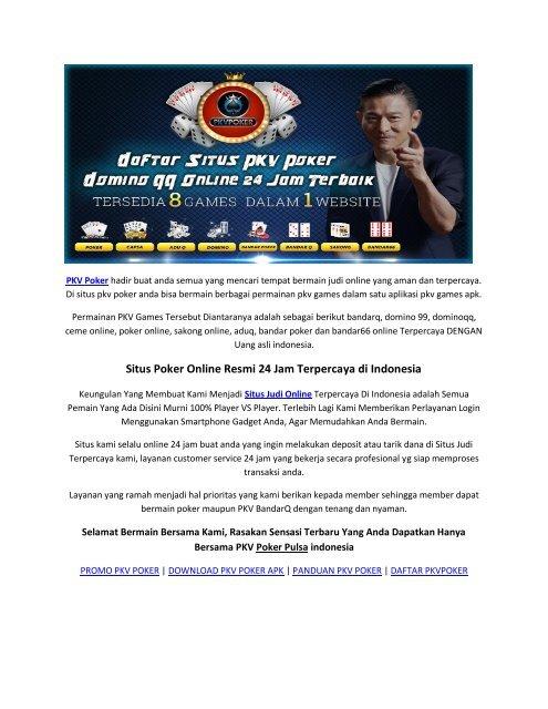Pkv Poker Situs Judi Pkv Poker Online Domino 99 Bandarq Terpercaya