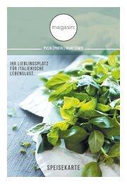 Magazin: Im Europark Speisekarte