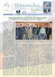 Mitterteicher Taferl - Ausgabe November 2019