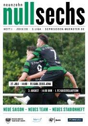nullsechs Stadionmagazin - Heft 1 2019/20