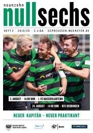 nullsechs Stadionmagazin - Heft 2 2019/20