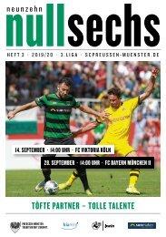 nullsechs Stadionmagazin - Heft 3 2019/20