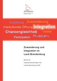 Zuwanderung und Integration im Land Brandenburg