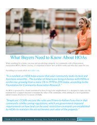 What Buyers Need to Know about HOAs