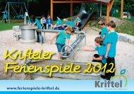 Krifteler Ferienspiele 2012 - Vereinsring Kriftel