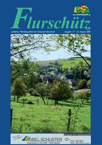 Ausgabe 177 vom 23.08.2008 - Gemeinde Morsbach