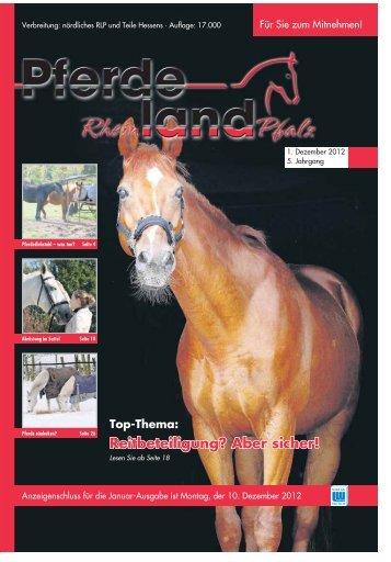 Pferdeland RLP Ausgabe Dezember 2012 - PDF Download