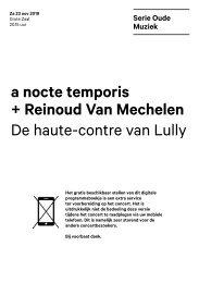 2019 11 23 a nocte temporis + Reinoud Van Mechelen