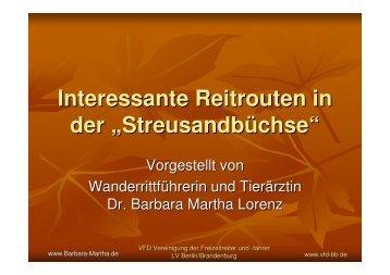 Die VFD-Naturparkritte - Barbara Martha