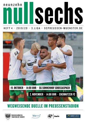nullsechs Stadionmagazin - Heft 4 2019/20