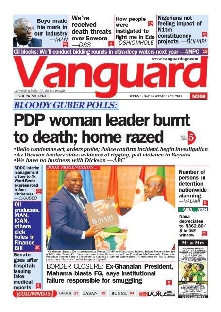 20112019 - PDP woman leader burnt to death; home razed
