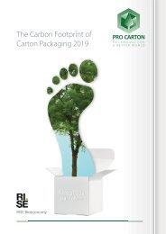 Pro Carton 2019 Carbon Footprint of Carton Packaging report
