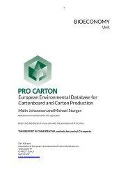 European Environmental Database for Cartonboard and Carton Production - Pro Carton 2019