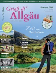 Griaß di' Allgäu Sommer 2018