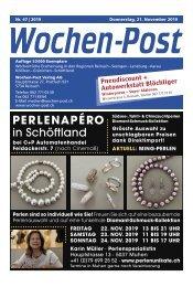 Wochen-Post | KW 47 | 21. November 2019