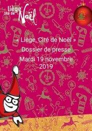 Liège, Cité de Noël 2019 - Dossier de presse