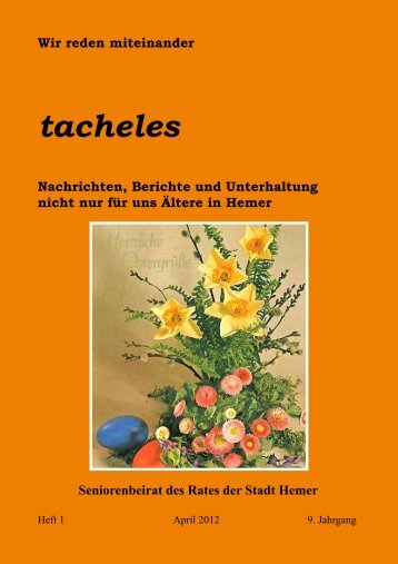 Tacheles: Aprilausgabe erschienen - Hemer