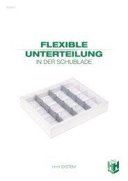 Flexible Unterteilung in der Schublade