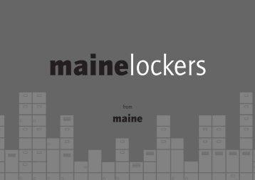 Maine Locker Brochure