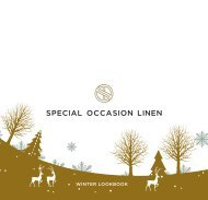 Special Occasion Linen - Winter Lookbook
