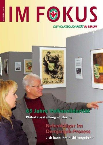 Fokus - Volkssolidarität - Landesverband Berlin