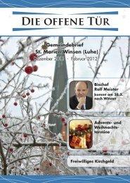 Offene Tür 12.2011 - St. Marien in Winsen