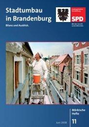 Stadtumbau in Brandenburg - Bilanz und - SPD-Landtagsfraktion ...