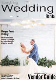 Everything Wedding Florida - Vendor Guide / Winter 2019