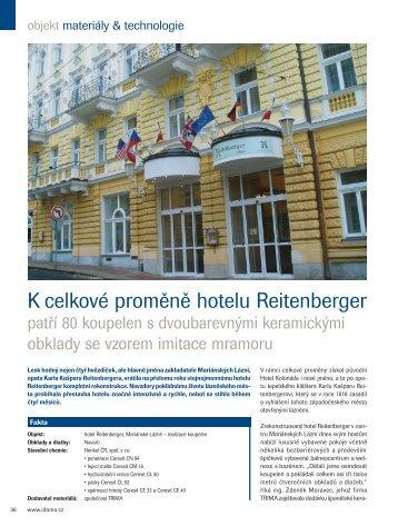 Reference - Hotel Reitenberger, Mariánské Lázně - Ceresit