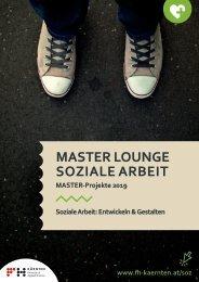 Master Lounge Soziale Arbeit | Master Projekte 2019