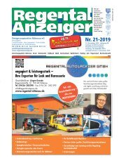 Regental-Anzeiger 21-19