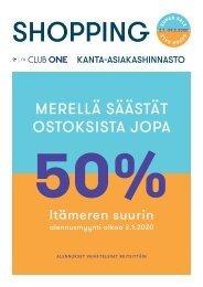 Club One kanta-asiakashinnasto tammi-helmikuu Super Sale 2020