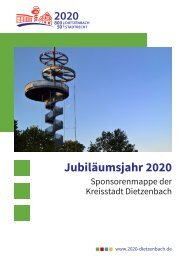 Sponsorenmappe zum Jubiläumsjahr 2020