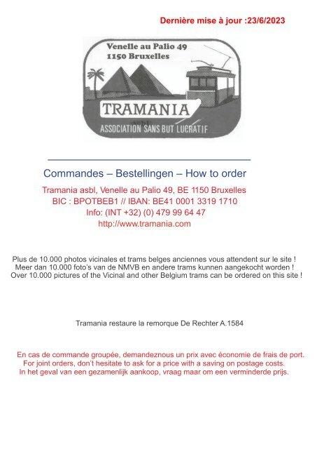Catalogue tramways: Livres, revues, DVD et publications diverses - TRAMANIA