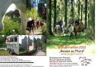 Wanderreiten 2012 - IM TEAM UNTERWEGS